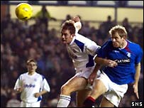 Egil Ostenstad heads Rangers two in front