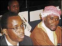 Ferdinand Nahimana (l) and Hassan Ngeze (r)