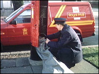 Postman and post box