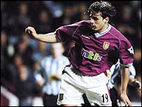 Bosko Balaban in rare action for Aston Villa