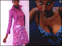 South African model Lerato Moloi (file picture)