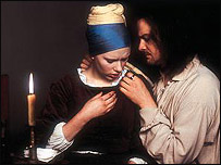 Colin Firth and Scarlett Johanssen in Girl With A Pearl Earring