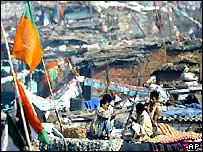 Slums during election time