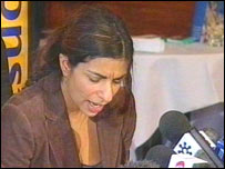 Actress Shobna Gulati at news conference held for Shafilea Ahmed