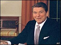 Ronald Reagan in the White House Oval Office, 1981