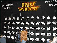 Space Invaders display