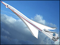 Conceptual design for supersonic plane, Nasa Langley Research Center