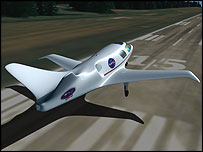Sats aircraft concept design, Nasa Langley Research Center / Joey Ponthieux