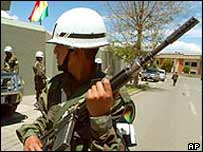 Bolivian policeman