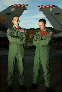 Flight Lieutenants Simon Grieve (left) and Graham Harvey
