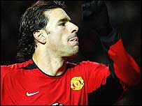 Ruud van Nistelrooy scored two for Man Utd