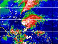 Odette. (Imagen: NOAA)