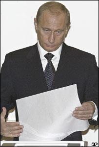 Vladimir Putin, presidente de Rusia, vota en las elecciones parlamentarias