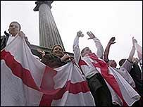 England rugby fans in Trafalgar Square