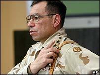 Lt Gen Ricardo Sanchez, commander of US forces in Iraq