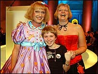 Grayson Perry with wife Philipa (right) and daughter Flo