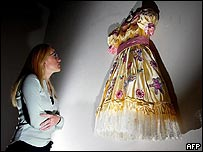 Perry also displays some of his dresses