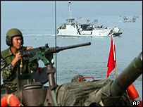 Taiwan naval exercise, October 2003