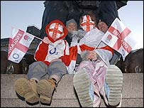 England fans have been arriving in central London since early morning