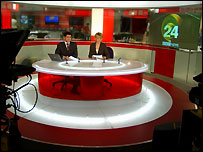 BBC News 24 set