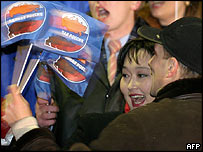 United Russia supporters