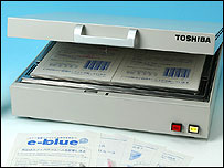 Toshiba's ink erasing machine
