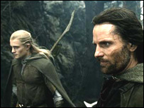 Orlando Bloom and Viggo Mortensen in The Lord of the Rings