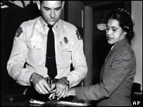 Rosa Parks after her arrest in 1955