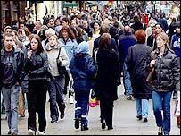 British shopping street