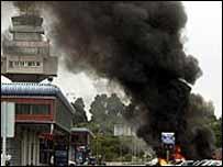 Aftermath of an ETA attack at Santander