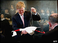 Dutch Prince Willem-Alexander gets a present when he registers his new baby daughter