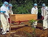 Funeral of ebola victim