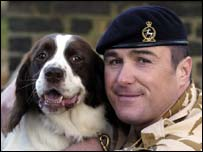 Sergeant Danny Morgan with Buster