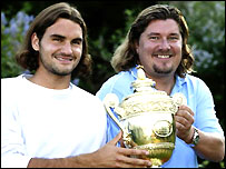 Roger Federer and former coach Peter Lundgren