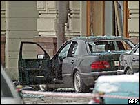 Scene of Moscow suicide bombing