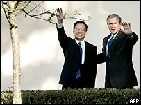 President Bush and China's Premier Wen Jiabao in Washington