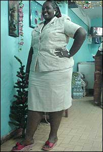 Miss 'Large Lady' 2003 Carine Riragendanwa
