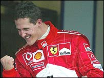 Six-time F1 world champion Michael Schumacher