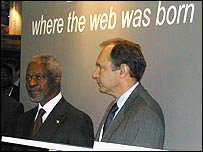 Kofi Annan and Tim Berners-Lee