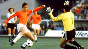 Johan Cruyff in action