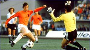 Johan Cruyff in action