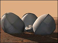 Beagle 2 descent (Image: All rights reserved Beagle 2)