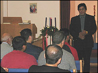 Leicester Prison Imam Mohammad Alam with Muslim inmates