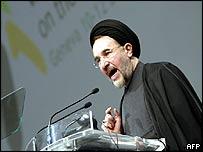 Iranian President Mohammad Khatami in Geneva
