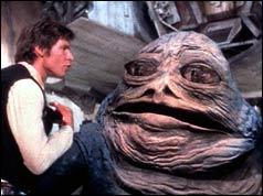 Hans Solo meets Jabba the Hut