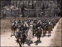 Riders outside Minas Tirith