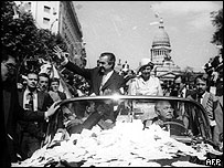 Alfonsín el 10 de diciembre de 1983