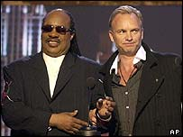 Stevie Wonder and Sting