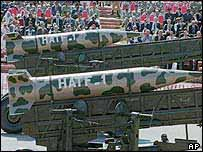 Pakistani nuclear-capable missiles