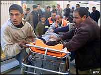 Injured taken to hospital in Rafah
